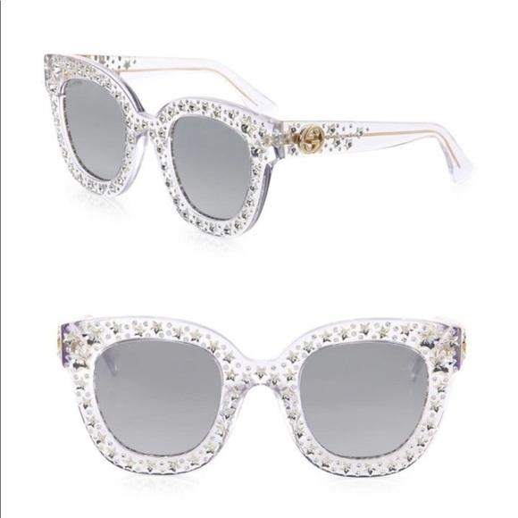 259cb67a7382 Gucci Accessories | Authentic Clear 0116s Sunglasses | Poshmark